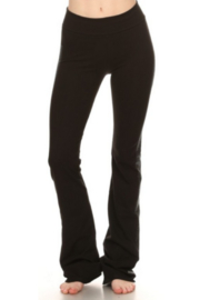 T Party Black Yoga Pants with Side Bling - Product Mini Image