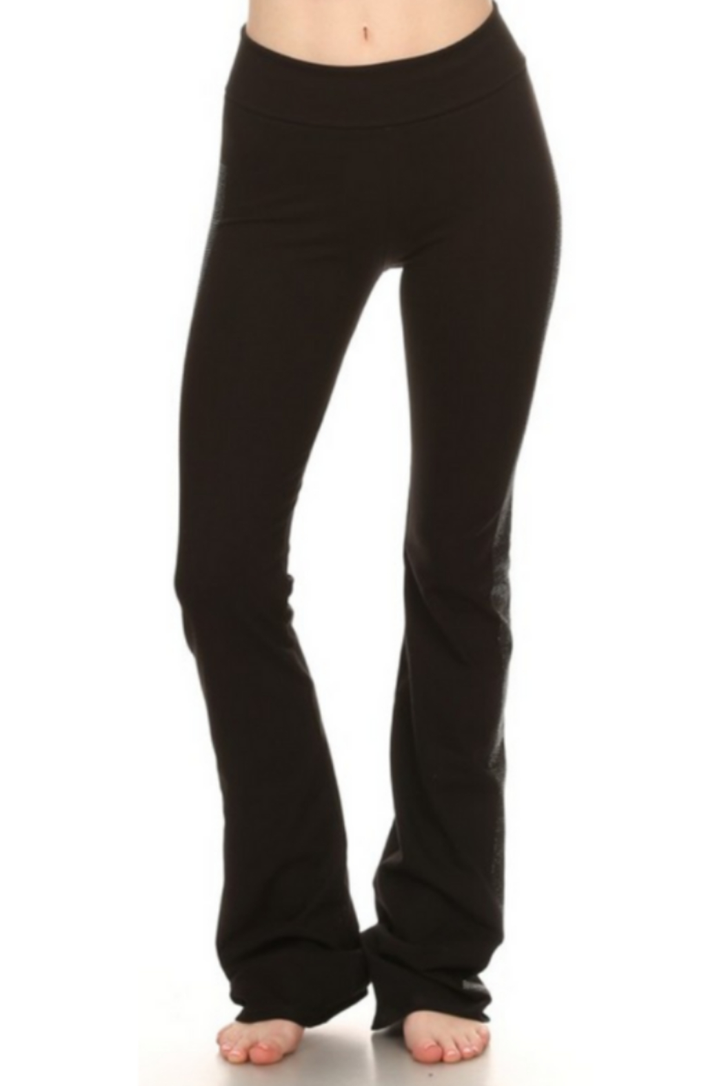 T Party Black Yoga Pants with Side Bling - Main Image