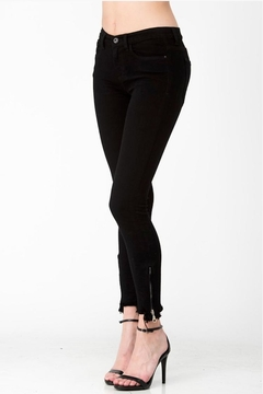 Shoptiques Product: Black Zip Denim