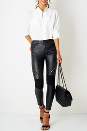 frontrow Black Zip Wax-Jeans - Product Mini Image