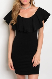 Black Bead Alexa Ruffle Dress - Product Mini Image