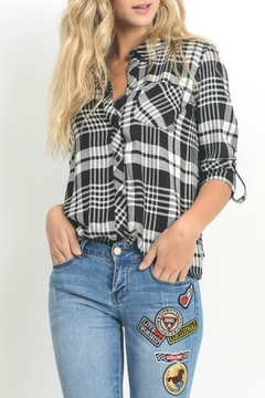Black Label Black Plaid Shirt - Product List Image