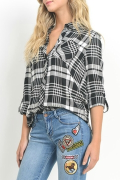 Black Label Black Plaid Shirt - Alternate List Image