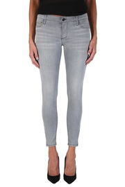 Black Orchid Denim Amber Zipper Skinny Jeans - Front cropped