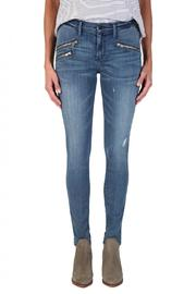 Black Orchid Denim Billie Zipper Skinnies - Front full body