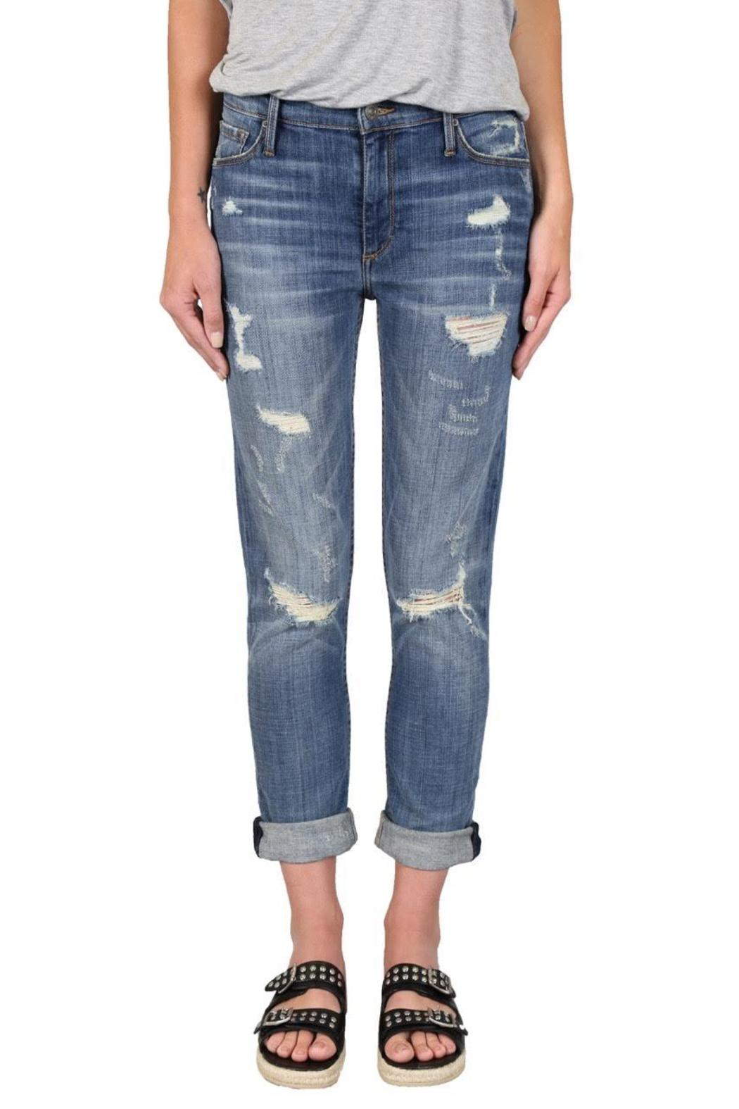 Black Orchid Denim Harper Warrior Boyfriend - Front Cropped Image