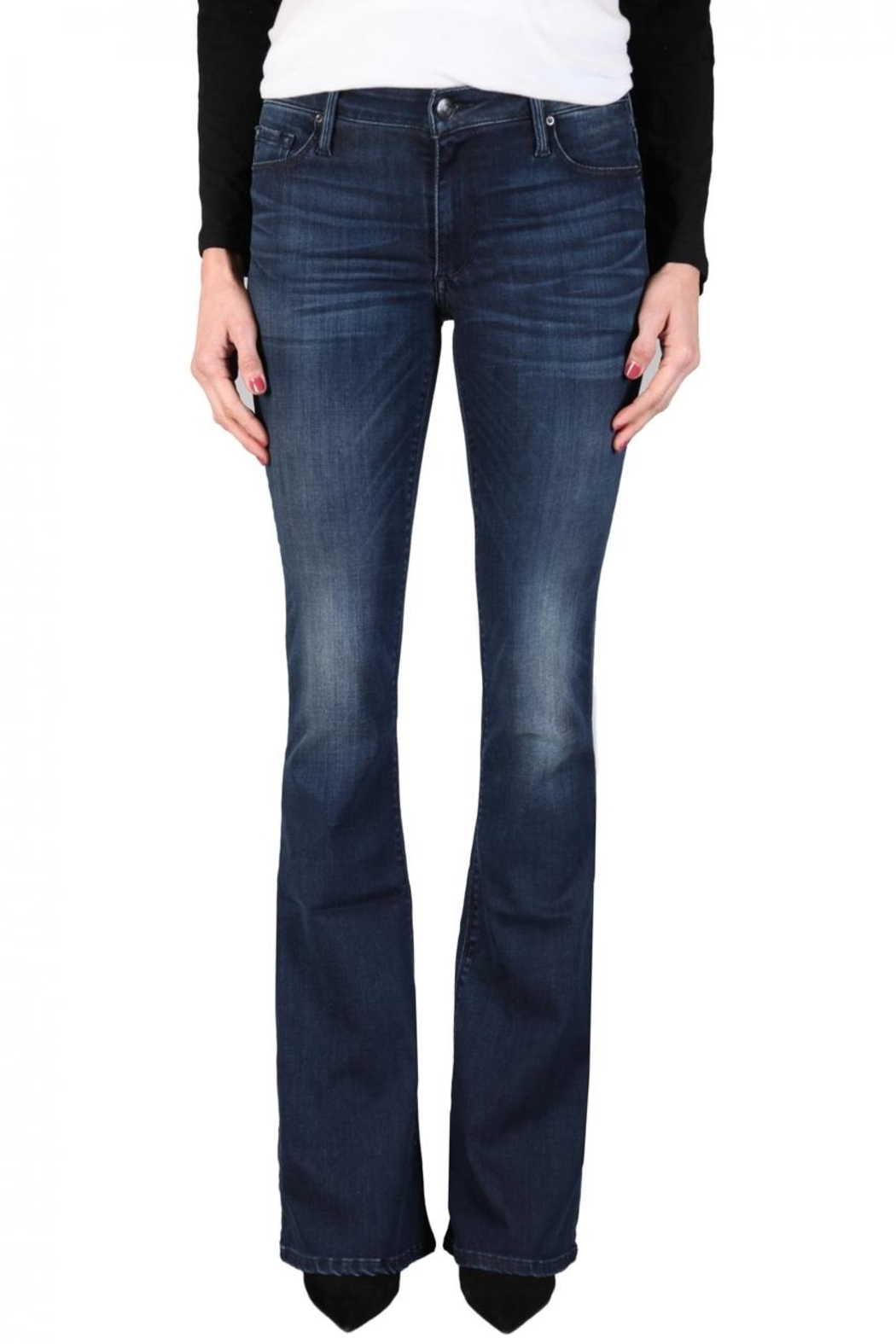 Black Orchid Denim Mia Flare Denim - Front Cropped Image