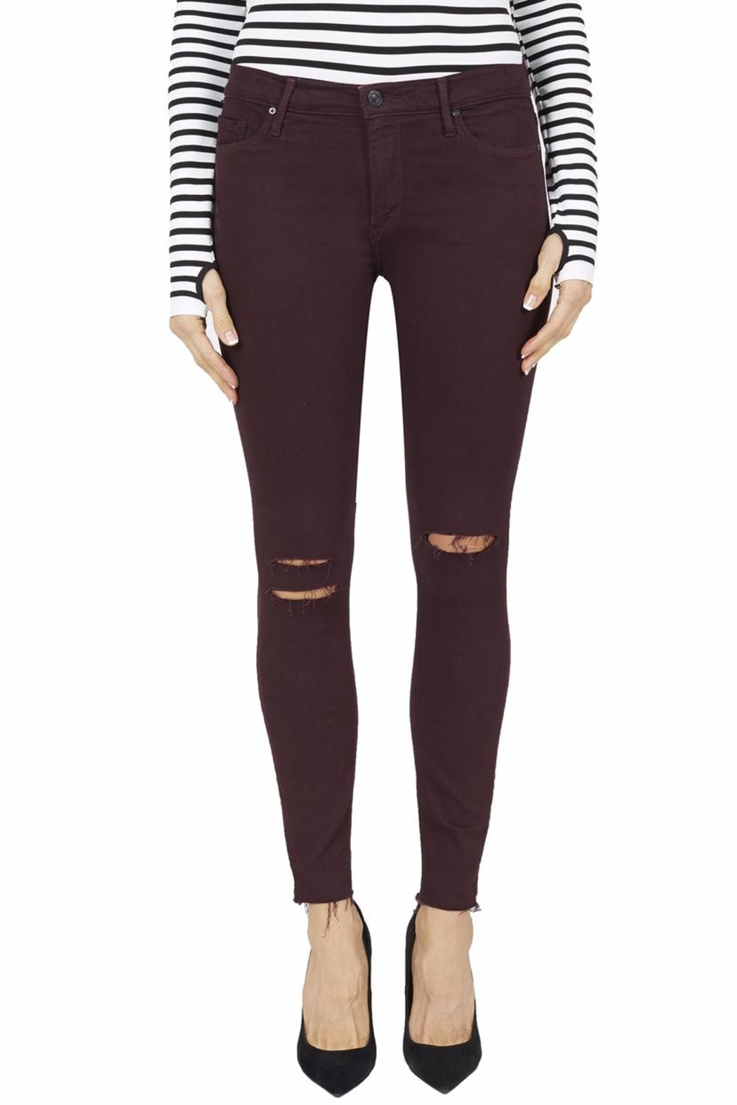 Black Orchid Denim Noah Ankle Fray Jeans - Front Cropped Image