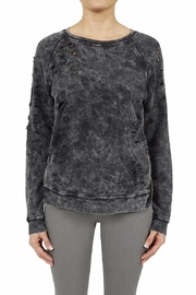 Black Orchid Denim Side Zip Deconstructed Top - Front cropped