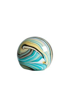 Black Rooster Decor  Aqua Orb Paperweight - Alternate List Image