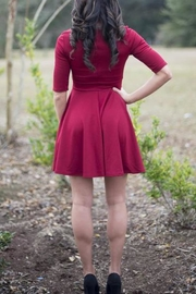Black Sheep Solid Burgundy Dress - Front full body
