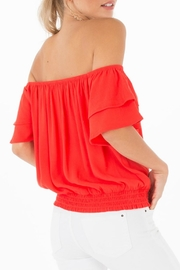 Black Swan Aurora Red Top - Front full body