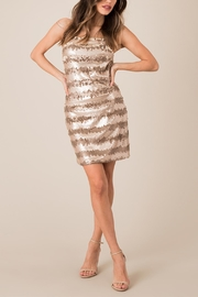 Black Swan Backless Seuent Dress - Front full body
