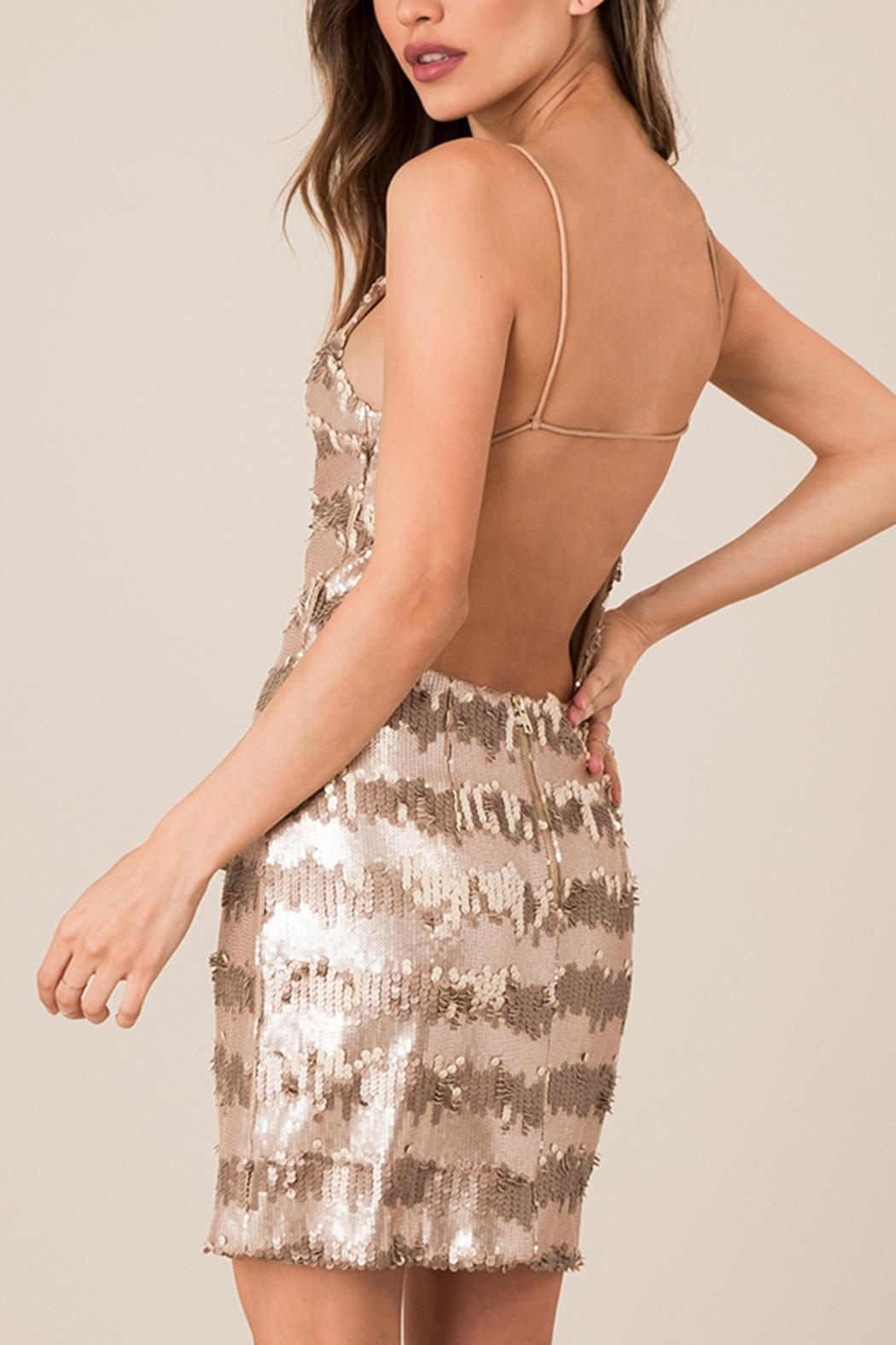 Black Swan Backless Seuent Dress - Side Cropped Image