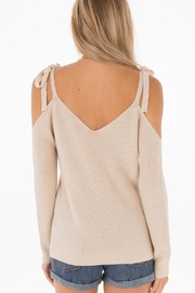 Black Swan Belle Linen Sweater - Front full body