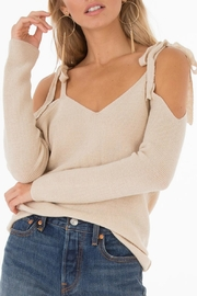 Black Swan Belle Linen Sweater - Front cropped