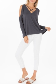 Black Swan Cold Shoulder Top - Product Mini Image
