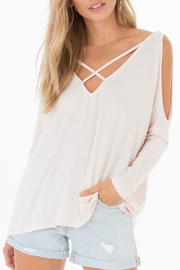 Black Swan Nataly Grey Top - Front cropped