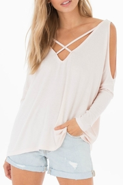 Black Swan Cold-Shoulder Top - Product Mini Image