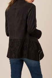 Black Swan Cut-Out Suede Jacket - Front full body
