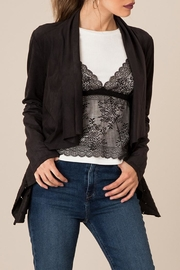 Black Swan Cut-Out Suede Jacket - Side cropped