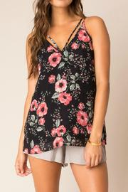 Black Swan Floral Strappy Tank - Product Mini Image