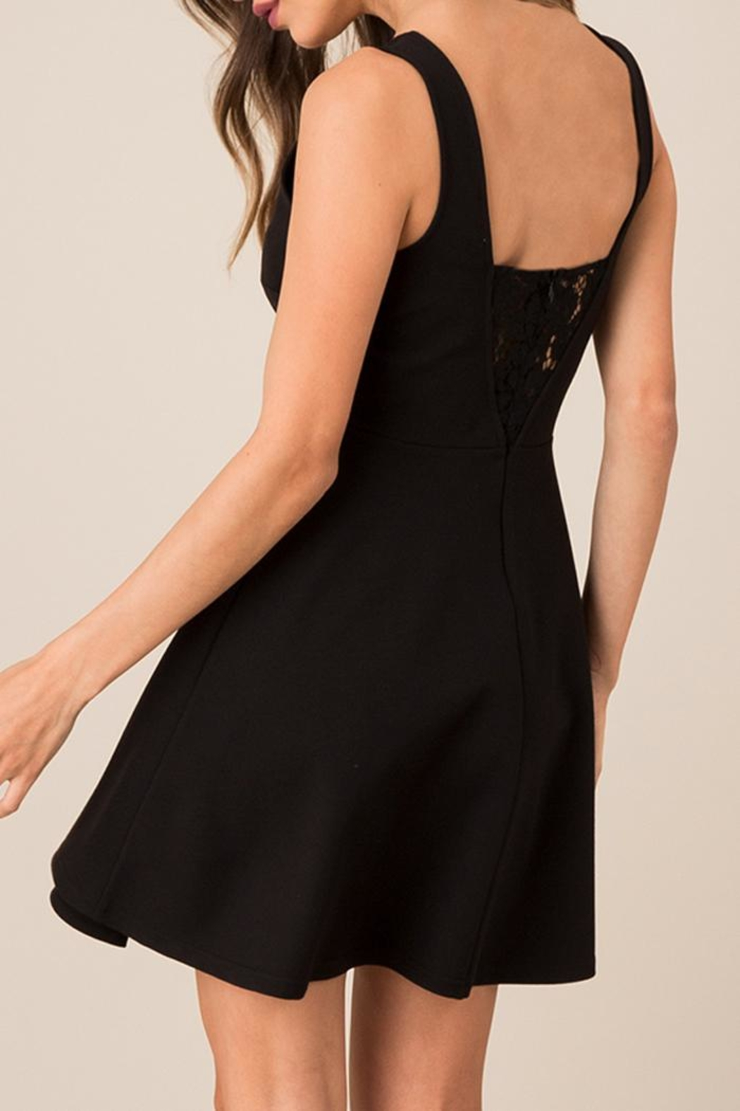 Black Swan Lace Accented Lbd - Front Full Image