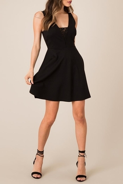 Black Swan Lace Accented Lbd - Product List Image