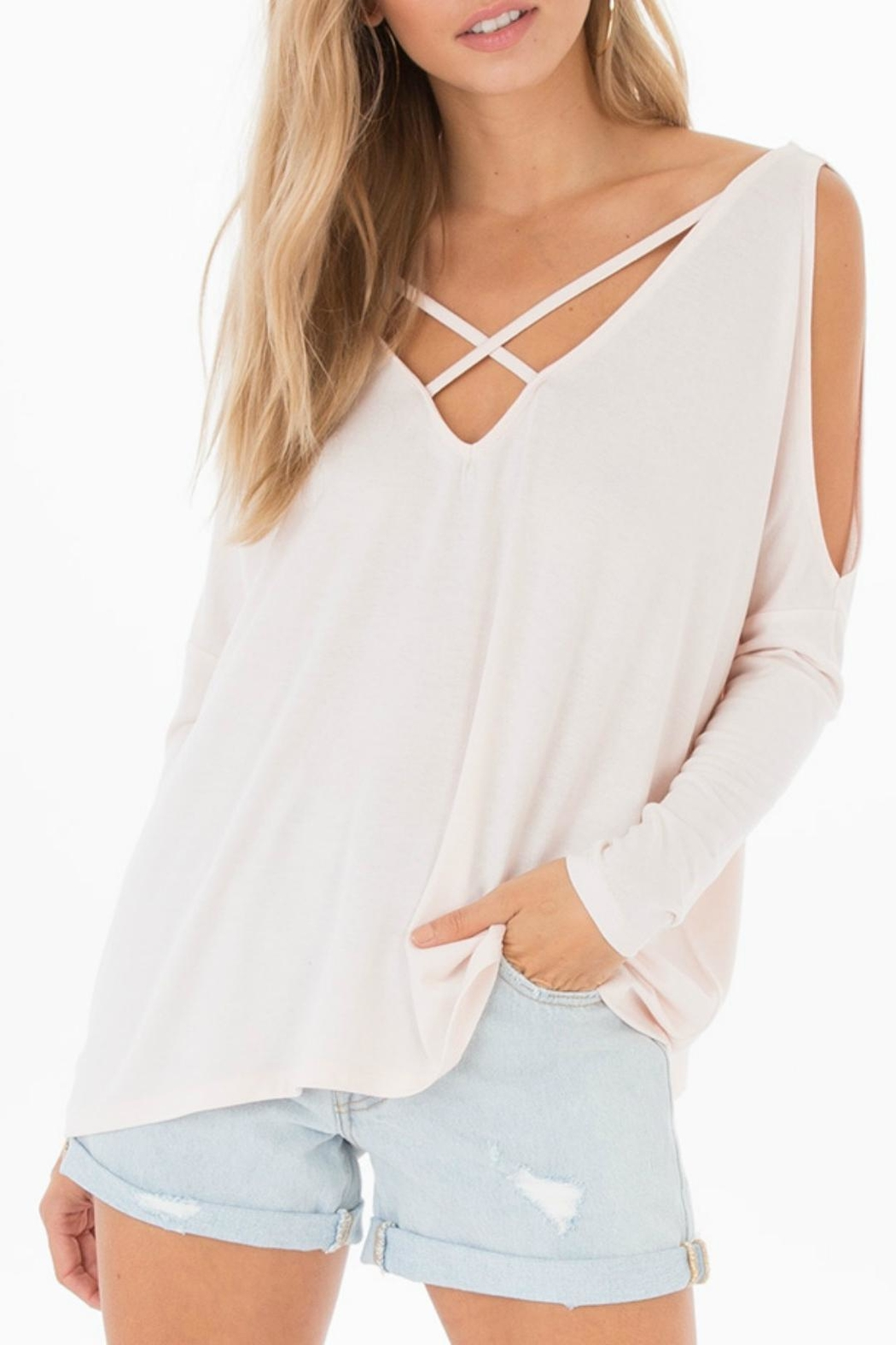 Black Swan Nataly Cut Top - Front Cropped Image
