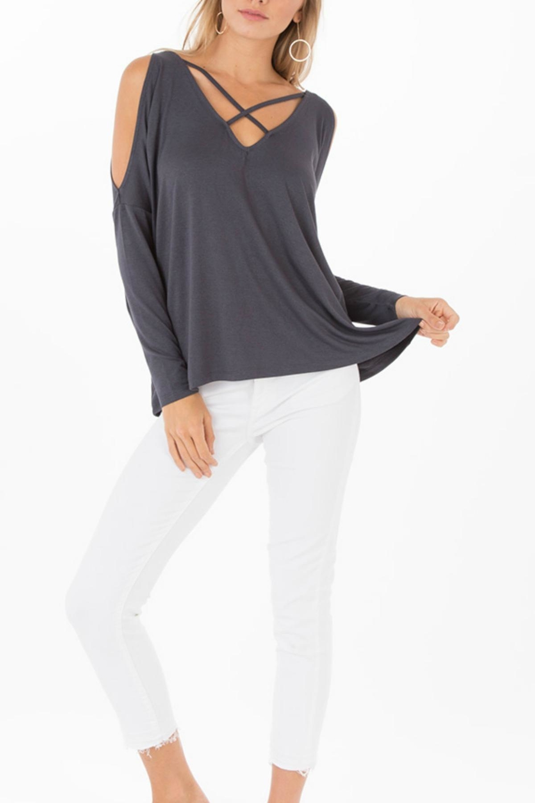 Black Swan Nataly Grey Top - Front Cropped Image