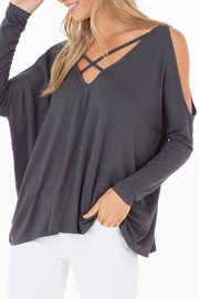 Black Swan Nataly Grey Top - Product Mini Image