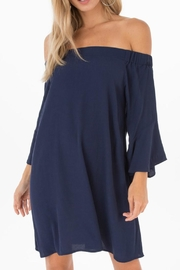 Black Swan Navy Off-Shoulder Dress - Product Mini Image