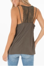 Black Swan Olive Lace Cami - Product Mini Image