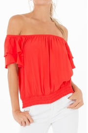 Black Swan Red Off-Shoulder Top - Product Mini Image