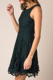Black Swan Rose Lace Dress - Side cropped