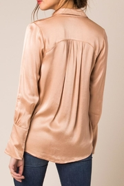 Black Swan Satin Pink Blouse - Front full body