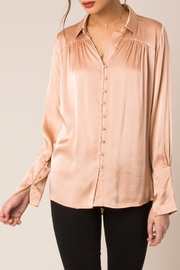 Black Swan Satin Pink Blouse - Product Mini Image