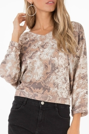 Black Swan Snake Print Top - Product Mini Image