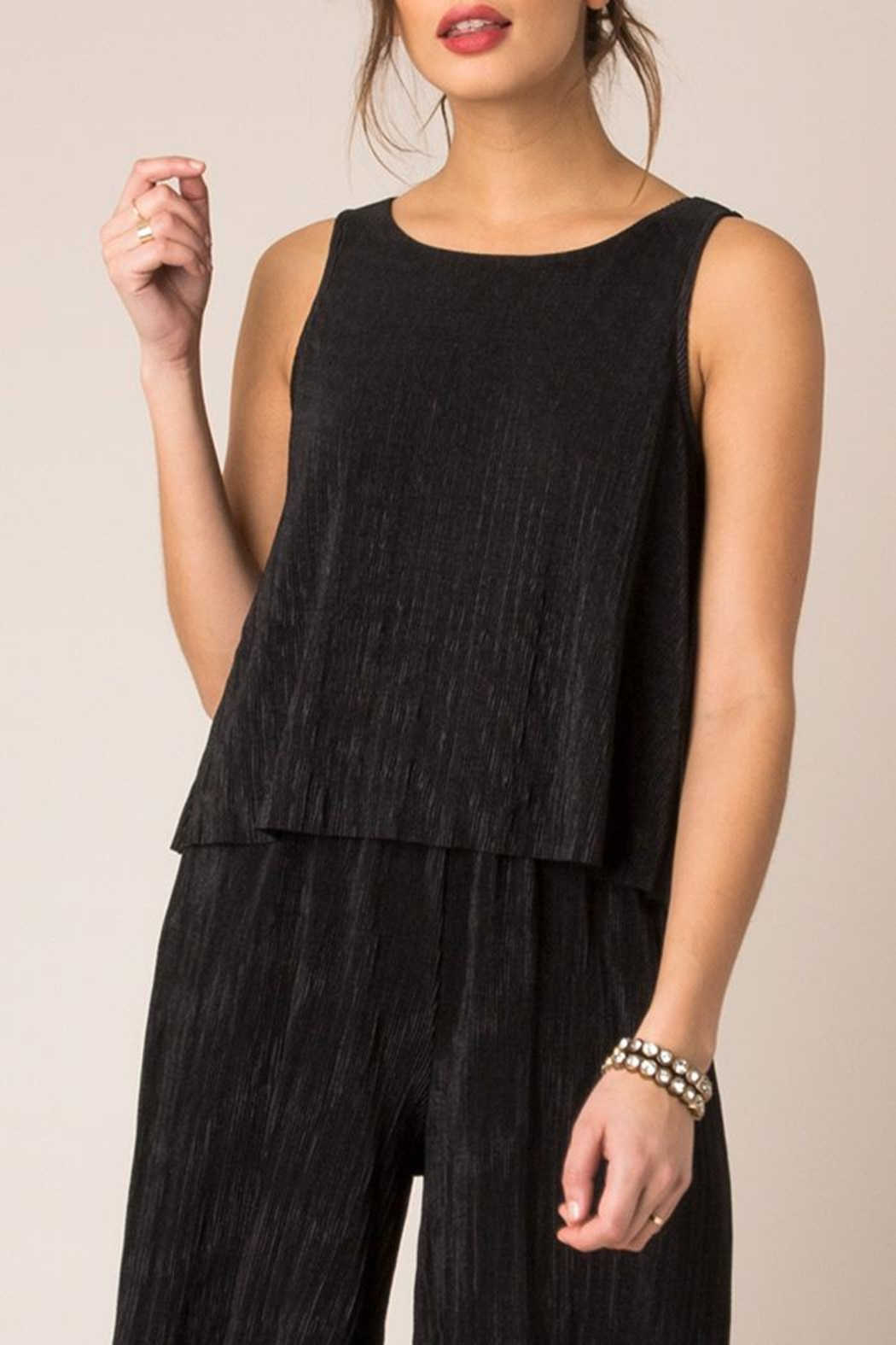 Black Swan Sway Tank Blouse - Front Cropped Image