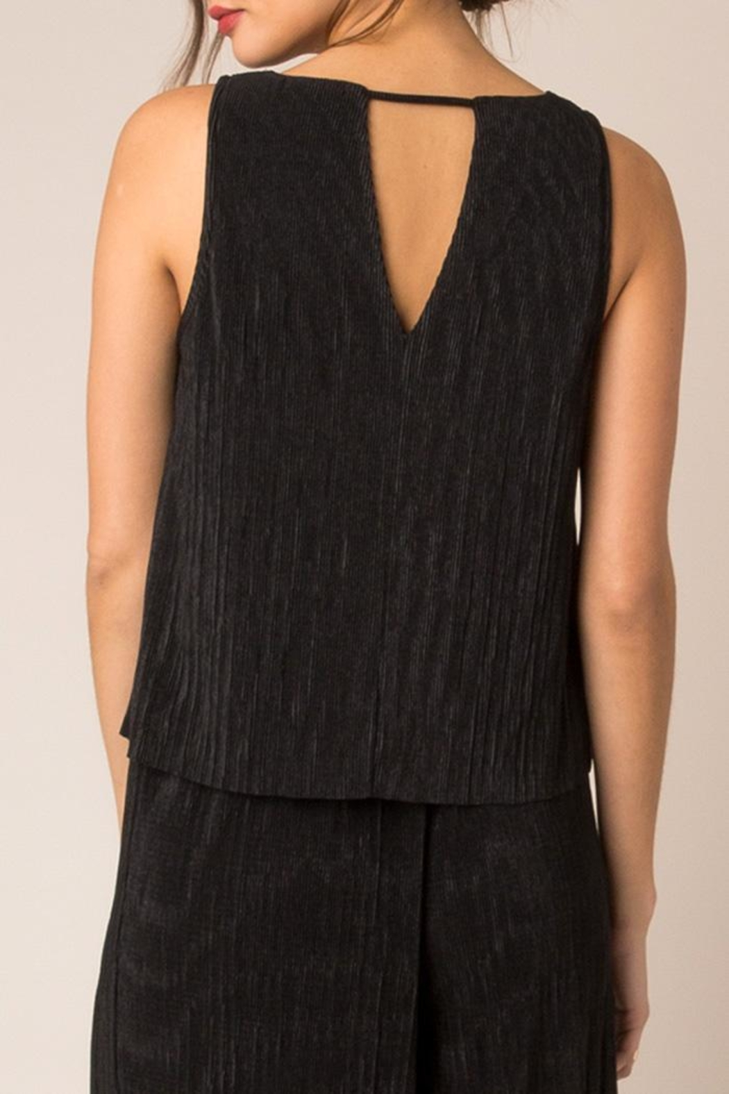 Black Swan Sway Tank Blouse - Front Full Image