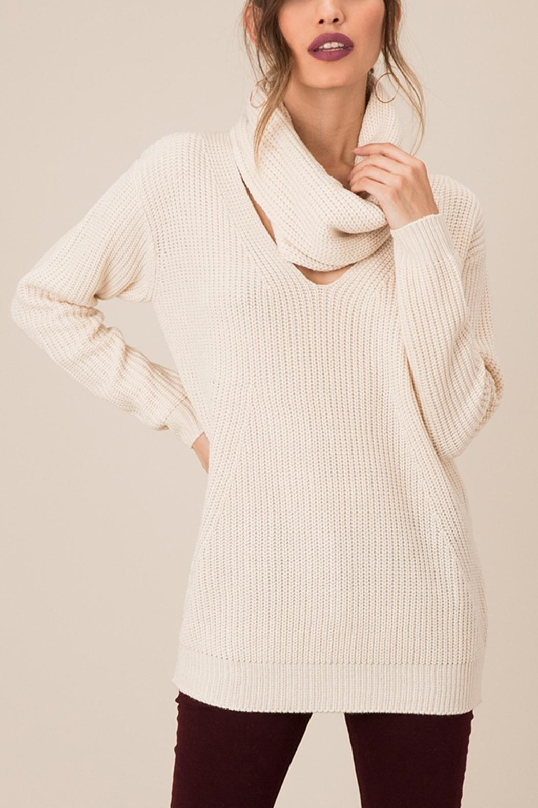 Black Swan Sweater With Scarf - Main Image