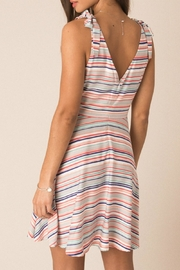 Black Swan Thalia Striped Dress - Front full body