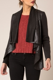 Black Swan Vegan Leather Braided Jacket - Product Mini Image