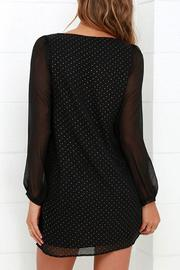 Black Swan Clothing Sheer Sleeve Dress - Side cropped