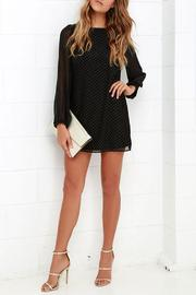 Black Swan Clothing Sheer Sleeve Dress - Front full body