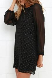 Black Swan Clothing Sheer Sleeve Dress - Back cropped