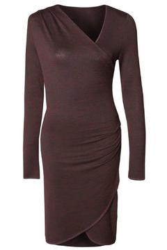 Black Tape Asymmetric Wrap Dress - Alternate List Image