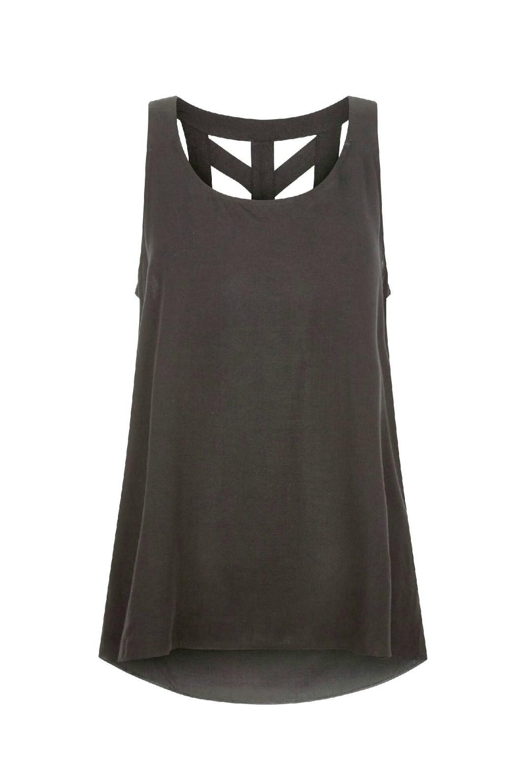 Black Tape Cut Out Tank - Main Image