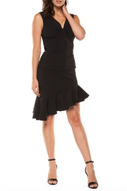 Black Tape Flounce Hem Dress - Product Mini Image