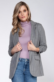 Black Tape Grey Ruched Blazer - Product Mini Image